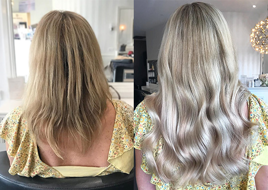 clip hair extensions - before & afters - EH Hair