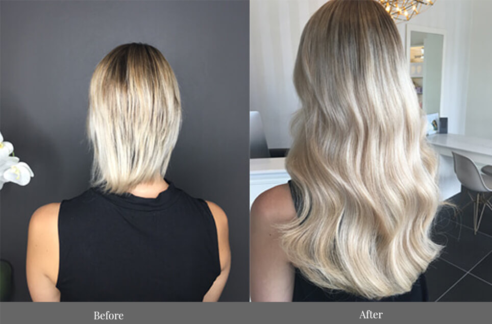 tape hair extensions Brisbane - extra full head russian skin weft - EH Hair & Extensions