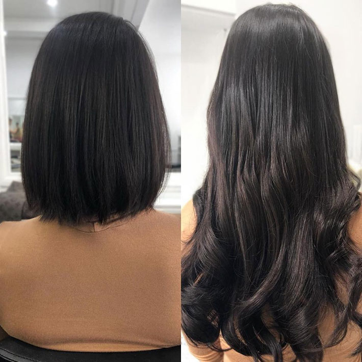 Invisible tape hair extensions - EH Hair