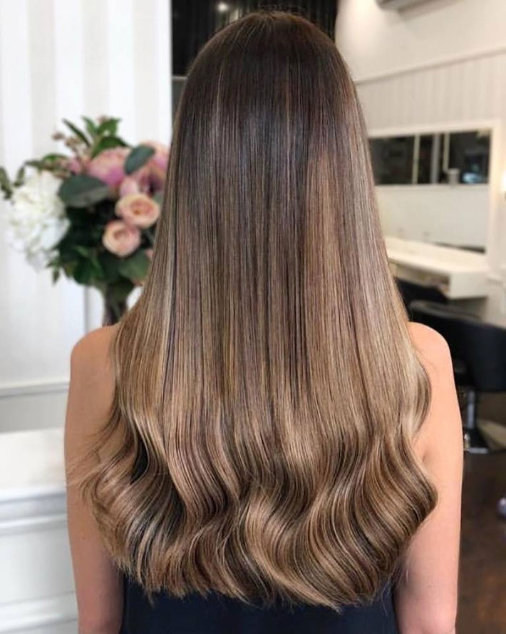 Invisible tape in haor extensions by EH Hair