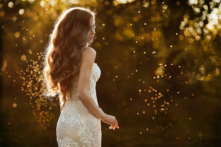 Hair extensions for your wedding, bride photo 02