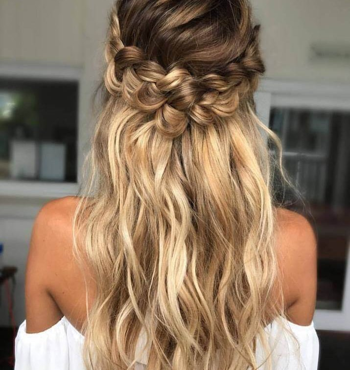 how to braid with hair extensions - EH Hair model image