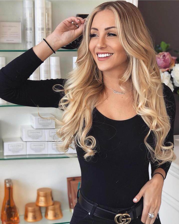 EH Hair - hair extensions model - blog article - how to wash hair extensions