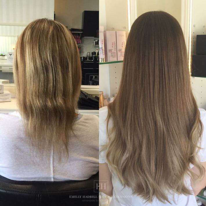 Ombre hair extensions before and after 03, EH Hair & Extensions