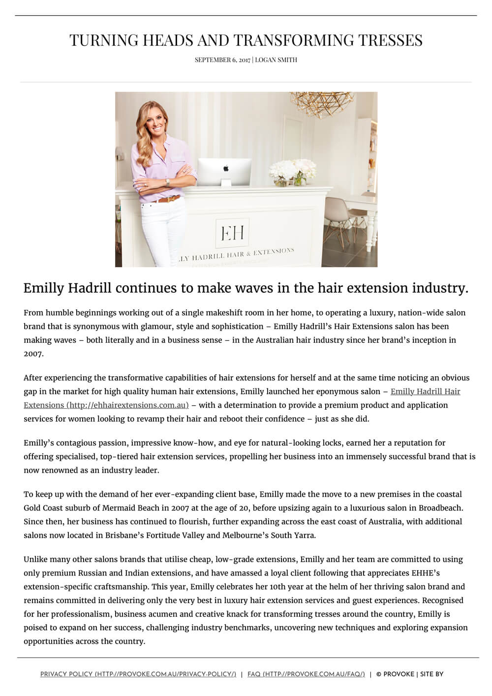 Provoke | Emilly Hadrill: Hair Extensions in Gold Coast, Brisbane, Melbourne & Sydney | 9